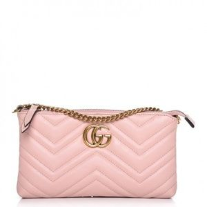 Gucci Marmont Pink Clutch